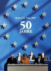 Déclaration de Berlin - 50 ans du traité de Rome