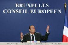 Chirac au Conseil Européen - 24 mars 2006