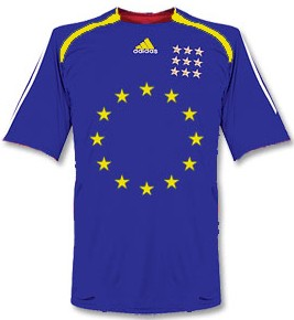 Maillot équipe europe foot-ball